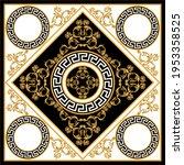 golden floral baroque element... | Shutterstock .eps vector #1953358525