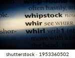 Small photo of whir word in a dictionary. whir concept, definition.