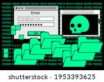 computer screen with binary...   Shutterstock .eps vector #1953393625