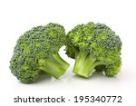 Broccoli Isolated Against White ...