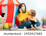 mother and daughter having a... | Shutterstock . vector #1953417682