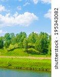 river lune landscape. lane on... | Shutterstock . vector #195343082