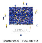 a large group of people are... | Shutterstock .eps vector #1953489415