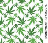 cannabis leafs   seamless... | Shutterstock .eps vector #195352976