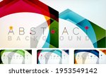 abstract hexagons background.... | Shutterstock .eps vector #1953549142