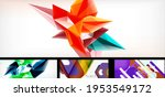 vector abstract background set. ... | Shutterstock .eps vector #1953549172