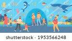 family in oceanarium. parents... | Shutterstock .eps vector #1953566248