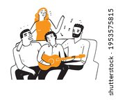 best friends or homosexuals are ... | Shutterstock .eps vector #1953575815
