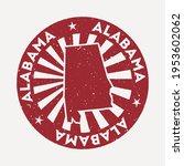 alabama stamp. travel red... | Shutterstock .eps vector #1953602062