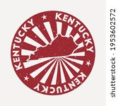kentucky stamp. travel red... | Shutterstock .eps vector #1953602572