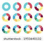 circle pie chart. 2 3 4 5 6 7 8 ... | Shutterstock .eps vector #1953640132
