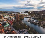 View Above The Swedish City Of...