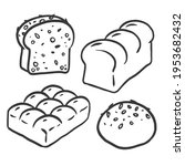 graphic bread in doodle style | Shutterstock .eps vector #1953682432
