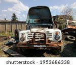 Old Damaged Soviet Truck Photo