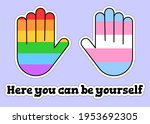 lgbt  friendly sticker pack....   Shutterstock .eps vector #1953692305