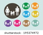 pictograms people man icon sign ... | Shutterstock .eps vector #195374972