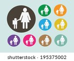pictograms people man icon sign ... | Shutterstock .eps vector #195375002