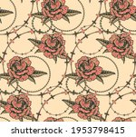 seamless pattern with flowers... | Shutterstock .eps vector #1953798415