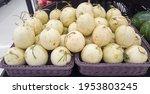 Many Yellow Ripe Cantaloupes...
