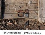 Old Dilapidated Wooden Door...