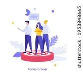 people standing on target.... | Shutterstock .eps vector #1953848665