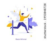 runner or athlete crossing... | Shutterstock .eps vector #1953848728