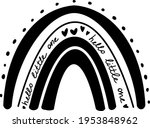 rainbow clip art  rainbow... | Shutterstock .eps vector #1953848962