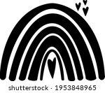 rainbow clip art  rainbow... | Shutterstock .eps vector #1953848965