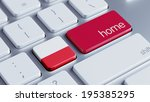 poland high resolution home... | Shutterstock . vector #195385295