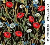 seamless pattern with botanical ... | Shutterstock .eps vector #1953863725
