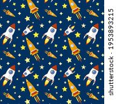 rockets and stars repeated... | Shutterstock .eps vector #1953893215