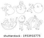 small children holding big... | Shutterstock .eps vector #1953933775