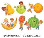small children holding big... | Shutterstock .eps vector #1953936268
