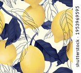 fruit seamless pattern  pastel... | Shutterstock .eps vector #1953969595