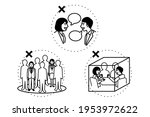 avoid the three cs. crowded...   Shutterstock .eps vector #1953972622