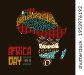 africa day greeting card... | Shutterstock .eps vector #1953976192