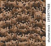vector snake skin  reptile... | Shutterstock .eps vector #1953977488