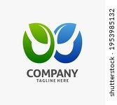 letter w leaf logo design    Shutterstock .eps vector #1953985132