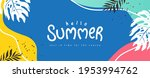 colorful summer background... | Shutterstock .eps vector #1953994762