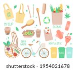 vector set of objects on the... | Shutterstock .eps vector #1954021678