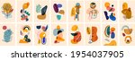 decorative abstract collection... | Shutterstock .eps vector #1954037905