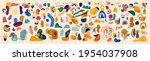 decorative abstract collection... | Shutterstock .eps vector #1954037908