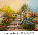 Oil Painting   Stone Stairs In...