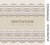 vintage vector frame with lace... | Shutterstock .eps vector #1954046422