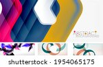 vector abstract background set. ... | Shutterstock .eps vector #1954065175