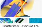 vector abstract background set. ... | Shutterstock .eps vector #1954065178