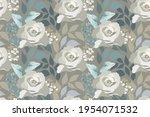vector floral seamless pattern. ...   Shutterstock .eps vector #1954071532