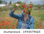 portrait of a young woman in... | Shutterstock . vector #1954079065