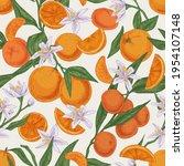 seamless realistic citrus...   Shutterstock .eps vector #1954107148