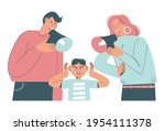 angry father and mother... | Shutterstock .eps vector #1954111378